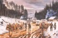 Royal Engineers Clearing one of the Convoy Routes (Route TRIANGLE) in the mountains of Central Bosnia, for a convoy of Royal Logistics Corps (RLC) vehicles.  David Rowlands travelled this muddy route in early 1993, bouncing and rocking in a Land Rove......