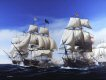 Midday, 21st October 1805, and Admiral Collingwoods flagship, the 100-gun HMS Royal Sovereign, breaks the allied line and delivers a shattering broadside on the Spanish flagship Santa Anna. Making great speed, Collingwoods ship had breached the Franco-Spanish line some distance ahead of the rest of his van and the Royal Sovereign suffered heavily as she quickly drew the attentions of three French and three Spanish ships. To her starboard, the French Indomitable can be seen firing into the British flagship while, astern of the Santa Anna, Belleisle and Fougueux are engaging ahead of Mars, Monarca and Pluton.