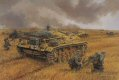 Sturmgeschutz IIIF of Stug Battalion Grossdeutschland, and supporting infantry from GD Regiment 1 battle against Soviet forces defending the strategically important city of Voronezh on the Don. Combined arms operations such as this proved the value ......