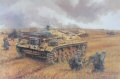 Sturmgeschutz IIIF of Stug Battalion Grossdeutschland, and supporting infantry from GD Regiment 1 battle against Soviet forces defending the strategically important city of Voronezh on the Don. Combined arms operations such as this proved the value of the assault gun, which took a terrible toll on enemy armour and men alike.