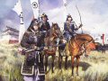 Samurai Warriors of the Sekighahara campaign 1600.  The most important and decisive battle in the history of Japan, Sekigahara was the culmination of the Power struggle triggered by the death of the great warlord Toyotomi Hideyoshi. The two rivals for power were Ishida Mitsunari and Tokugawa Ieyasu. The contest was ultimately settled by force of arms in a small mountain valley in central Japan. By the end of the day 40,000 heads had been taken and Ieyasu was master of Japan. Within three years the Emperor would grant him the title he sought - Shogun.