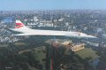 A sight never to be repeated. Concorde G-BOAE gracefully drifts above London with Buckingham Palace immediately below, Westminster Abbey, the Houses of Parliament, the River Thames and the London Eye in the middle distance. On 24th October 2003, the world said goodbye to this elegant airliner, bringing to a close almost thirty years of commercial supersonic travel.