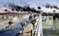 Y Company of 1st Battalion The Royal Regiment of Fusiliers assault Bridge 2 over the Shatt al Basrah waterway under heavy fire on the morning of 23rd March 2003.