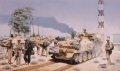 DHM1376.  Headquarters Squadron, 1st The Queens Dragoon Guards, Umm Qasr, Iraq, 2003 by David Rowlands. ......