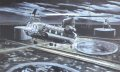 Chinook helicopters based at RAF Odiham approach the landing site on the Al Faw peninsula, Iraq on the night of 20th March 2003 to insert Royal Marines to secure the oil terminal.  Operation HOUGHTON, as it was known, was part of the early stages of......