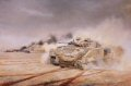 DHM604GS.  Warriors of the First Battalion The Royal Scots (The Royal Regiment) in action in Southern Iraq, 26th February 1991 by David Rowlands.