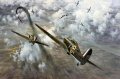 High over London, Hurricanes of 85 Squadron engage Me109s in an intense dogfight during the heavy fighting of August 1940.