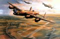 The tension is electric; slowly they climb to circle the airfield while the entire squadron gets airborne. Below, the countryside reverberates with the sound of roaring Merlin engines. RAF Lancaster bombers of 617 Squadron. ......