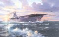 The USS Wasp launches Spitfires of 601 and 603 Squadrons towards Malta in a desperate, but successful, attempt to defend the beleagurered island, April 1942. ......