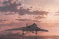 A Vulcan Mk B2 of 44 sqn lifting off into the dawn sky during the cold war. 44 sqn were the first equipped with these aircraft in 1960, initially receiving the earlier Mk 1As passed on from 83 and 617 sqns who had upgraded to the B2 as the Mk 1A was phased out. It was in fact the last squadron to use them, seeing active service in the bombing of Port Stanley during the Falklands war and finally relinquishing them in 1984.