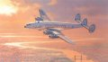 Robert Watts captures the romance of that golden era of passenger flight in his nostalgic painting of a L-1049 Constellation. Seen in American Airlines colors, a Connie descends over London in the soft early morning light after an overnight flight fr......