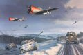 The relief of Bastogne turned the tide in the Battle of the Bulge and Hitlers final great offensive of World War II lay in ruins. P47 Thunderbolts of the 406th Fighter Group, in company with P38 Lightnings, support the advancing armor of General Geo......