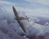 A classic view of a Mk I Spitfire belonging to 609 Squadron, flown by Battle of Britain ace John Bisdee, high over South East England in that fateful summer of 1940. After the first fifteen months of the war this famous fighter squadron, initially m......