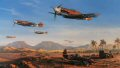 Nicolas Trudgians painting Desert Victory recreates all the atmosphere of the North African desert war with a stunning portrayal of the Me109s of 3./JG-27. The wing is depicted being led by Staffelkapitan Gerhard Homuth as they escort Afrikakorps ar......