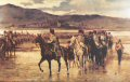 DHM308.  The Passage of the Bidassoa by Wellingtons Army, 7th October 1813 by J P Beadle.