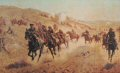 Depicting the charge of the Bucks, Berks and Dorset Yeomanry on November 13th 1917 during the Palestine campaign. ......
