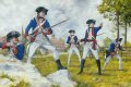 DHM499P.  2nd Maryland Regiment at the Guildford Courthouse 1781 by Brian Palmer.