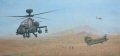 A Chinook performs an MERT pick up with the force protection of two Army Air Corps Apache helicopters. ......