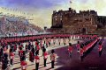 The installation of the Governor of Edinburgh Castle, receiving the Keys of the Castle by the Quarter Master 2nd Battalion. Summer 1991. ......