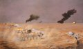 DHM6203GL. 16th/5th The Queens Royal Lancers in action during the Gulf War, 26th February 1991 by David Rowlands.  ......