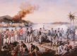 DHM6206GL.  Captain R S Broughs Company, 7th Battalion Royal Artillery at the Capture of Martinique, 24th February 1809 by David Rowlands. ......