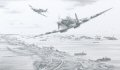Issued to commemorate the 55th anniversary of D-Day, this print captures the moment as 401 Squadron Spitfires cross the beachhead for their fourth, and last, patrol on D-Day itself - June 6.......