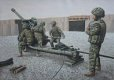 Royal Artillery preparing to fire their 105mm Light Gun at MOB PRICE, Helmand Province on Herrick 17.