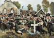 DHM654. Prussian Assault on the Church Yard, Kolberger Regiment at Grosbeeren, 23rd August 1913 by Carl Rochling.