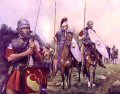 Cavalry and Legionaries (plus Auxiliary Hamian Archer) of the XIVth Legion.