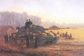King Tigers of Kampfgruppe von Rosen, 3rd Company Heavy Tank Battalion 503, preparing to move out from the Tisza bridgehead to counter Soviet pressure on German forces attacking to the northwest at Debrecen during the first battles to defend the Hungarian capital of Budapest.