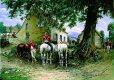 GIBA2132GL. Horsemen Resting by Auguste Louis Georges Loustaunau.