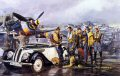 BMW 328, Focke-Wulf 190A. James Dietz's grouping of planes, people and vehicles in Tough Day represents a bleak gathering of Jagdgeschwader 2's most colorful Focke-Wulf FW-190As. JG 2 Richthofen was one of the rare Luftwaffe units that campa......