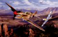 The P-40, legendary for its service with Chennaults Flying Tigers in China, was one of the RAFs principle fighters in the north African Desert war. A low-level dogfight between P-40 Kittyhawks of 112 Squadron is shown, as they tangle with the Luftwa......