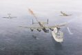 Lancaster PA 474 along with Spitfire Mk 356 and AB 910 dropping one million poppies over Mv Van Gough off the coast of Normandy, celebrating the invasion of the Normandy beaches in June 1944. The event was witnessed by veterans of D-Day on board the ......