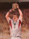 England Captain martin Johnson lifts the World Rugby Cup, as winners of the 2003 World Rugby Cup in Australia.