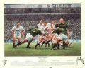 75,000 people poured into Twickenham to witness rugby history as the mighty Springboks, unbeaten in 17 games, attempted to emulate the New Zealand record of 18 consecutive test match victories.  The English side included Jeremy Guscott and Matthew Da......