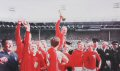 The jubilant celebrations following the presentation of the Jules Rimet trophy will long be remembered.