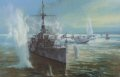 HMS Amethyst about to return fire while a Sunderland of 88 Squadron makes a hurried departure, 23rd of April 1949. <br><i>This edition is signed by world famous actor Richard Todd, who played the part of Lieutenant Commander John Kerans in the film.......