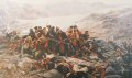 Last stand of the 44th (Essex Regiment) after their retreat from Kabul. This painting depicts an incident during the retreat from Kabul in the first Afghan War of 1839-1842, when the remnants of the 44th (East Essex) Regiment made a last stand at Gun......