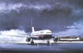 You can almost hear the Rolls-Royce RB211-524H engines accelerate to full power in this dramatic study by Michael. British Airways 767 Pilots are also qualified to fly the Boeing 757, which is featured in the background of this superb print. They fr......