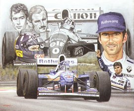 Damon Hill by Peter Deighan
