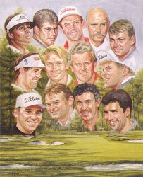 Ryder Cup Team 1999 by Peter Deighan
