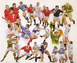 Six Nations Rugby by Peter Deighan.