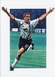 Michael Owen - The German Hat Trick by Robert Highton.
