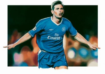 Frank Lampard by Robert Highton.