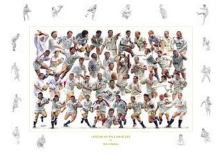 Legends of English Rugby by Robert Highton.