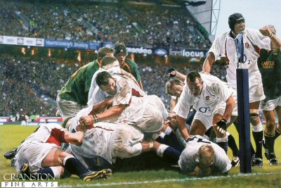 England v South Africa - Investec 2002 by Doug Harker. (Y)