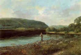 Fishing Scene, Loch Earn by Clive Madgwick