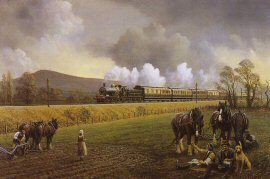 Great Western Near South Brent, 1913 by Gerald Broom