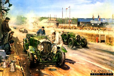 Bentley at Le Mans 1929 by Terence Cuneo.